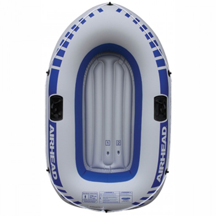 Airhead 1 Person Inflatable Boat Blue/Gray