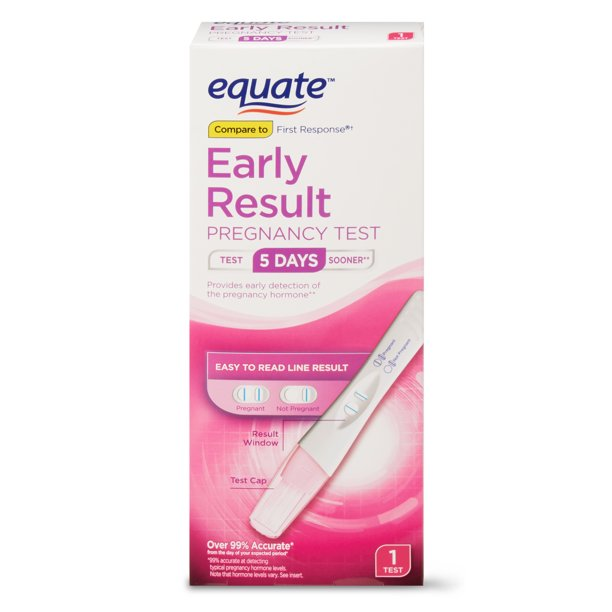 Equate Early Result Pregnancy Test, 1 Count - Walmart.com - Walmart.com