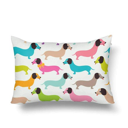 GCKG Seamless Pattern Kids Retro Dachshund Puppy Pillow Cases Pillowcase 20x30 inches - image 4 de 4