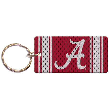 Alabama Crimson Tide Jersey Printed Acrylic Team Color Logo Keychain - No Size