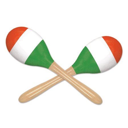 (12 Packs) Red, White & Green Maracas