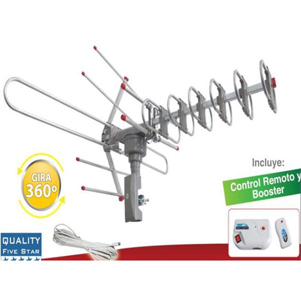 Zimtown Outdoor Amplified Antenna Digital HD TV 150 Mile 360 Rotor 38dB UHF/VHF/FM