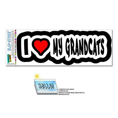 I Love Heart My Grandcats SLAP-STICKZ(TM) Premium - I Heart Ny Sticker