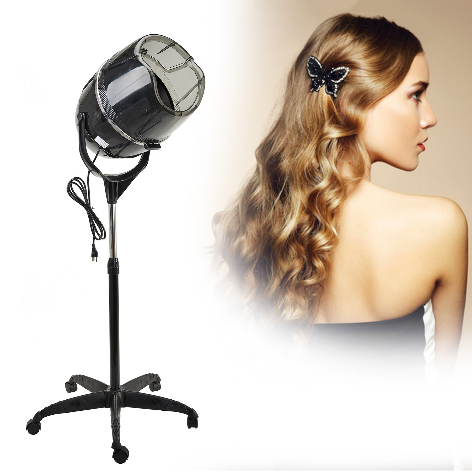 Adjustable Stand Up Hair Dryer with Bonnet Style Hood