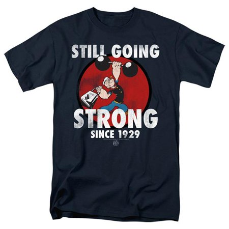 Trevco Sportswear PYE790-AT-6 Popeye & Still Going Strong-Short Sleeve Adult 18-1 T-Shirt, Navy - 3X - image 1 of 1