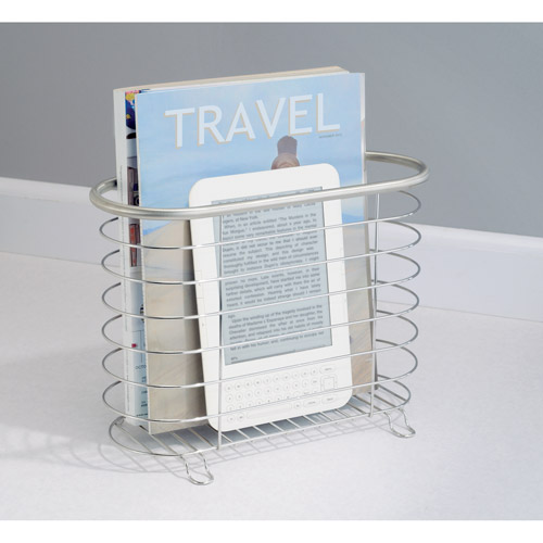 InterDesign Forma Newspaper and Magazine Rack for Bathroom, Office, Den, Brushed Stainless by INTERDESIGN