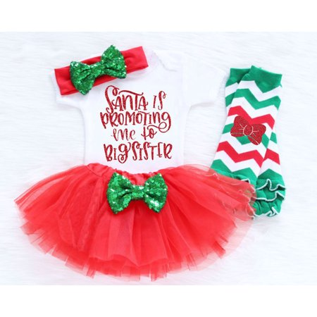 Womens Christmas Fancy Dress Outfits (3pcs Toddler Girls Baby Kids Christmas Party Xmas Tutu Fancy Dress Outfits)