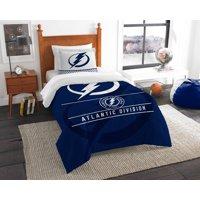 Tampa Bay Lightning The Northwest Company NHL Draft Twin Comforter Set