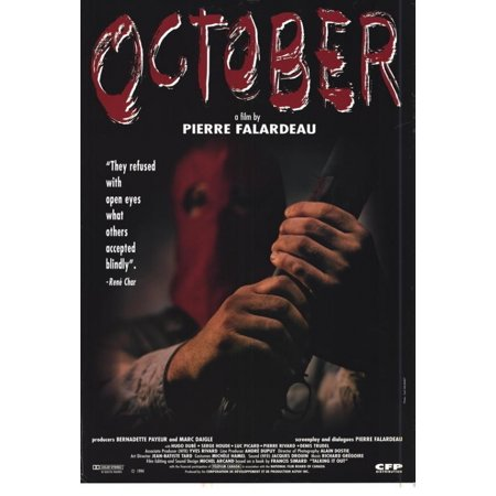 October Movie Poster Print  27 X 40