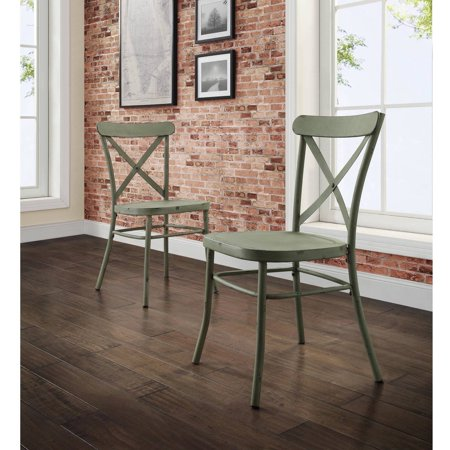 Better Homes And Gardens Collin Distressed Green Dining Chair Set Of 2