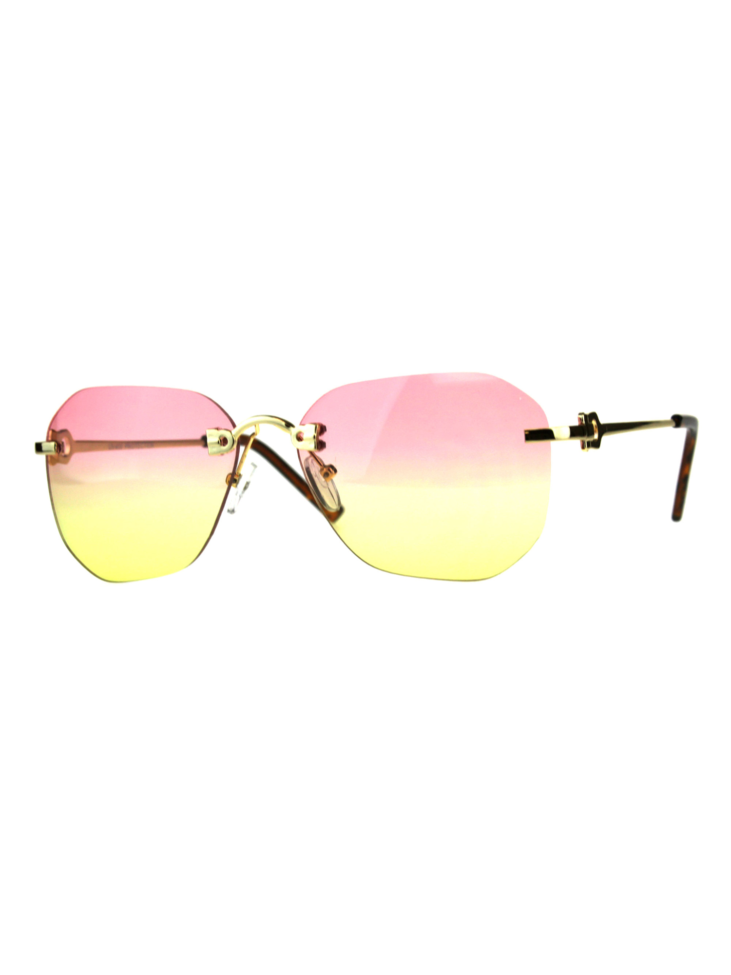 Womens Rimless Butterfly Designer Fashion Luxury Sunglasses