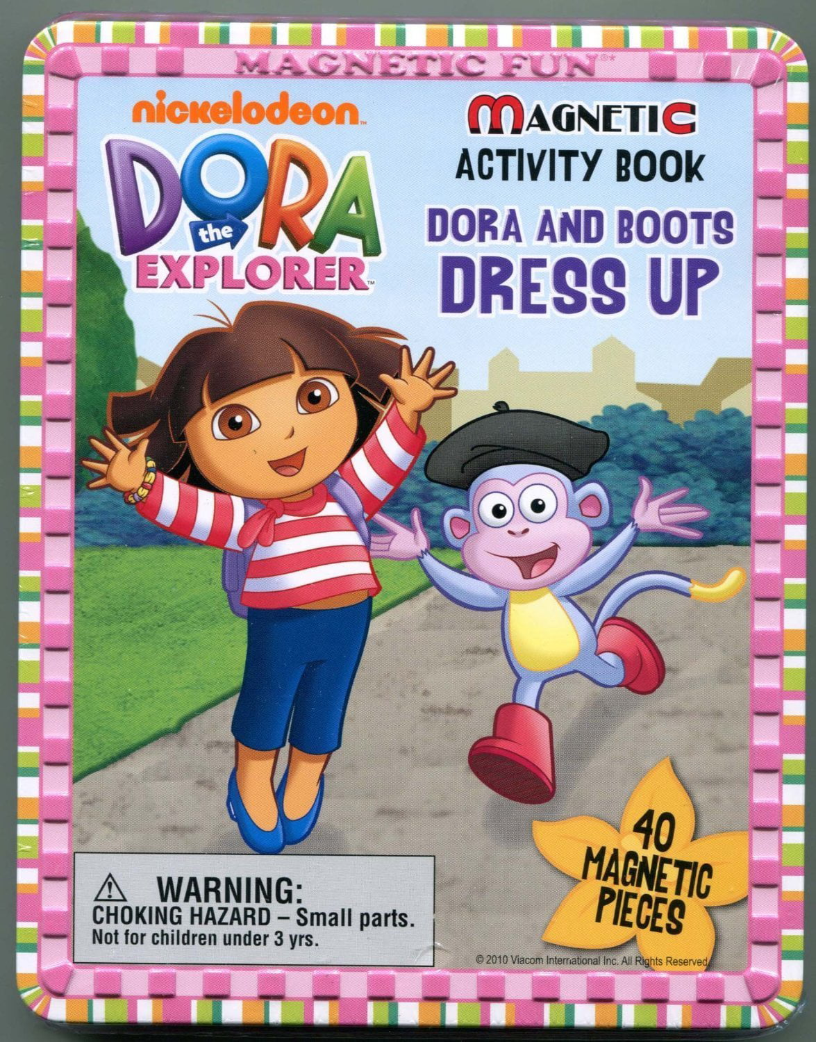 Dora the Explorer Magnetic Activity Book Dora and Boots Dress Up, Set contains 4 Play... by