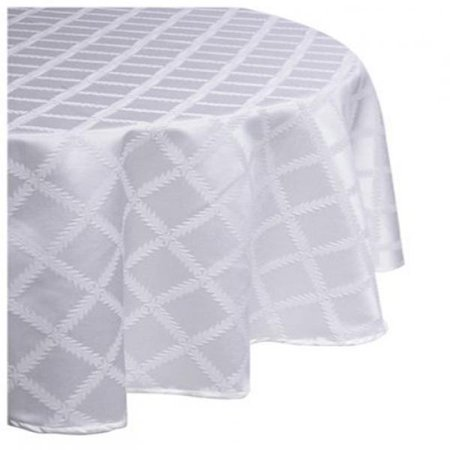 Lenox Tablecloth Oblong Laurel Leaf 70-by-144-Inch White