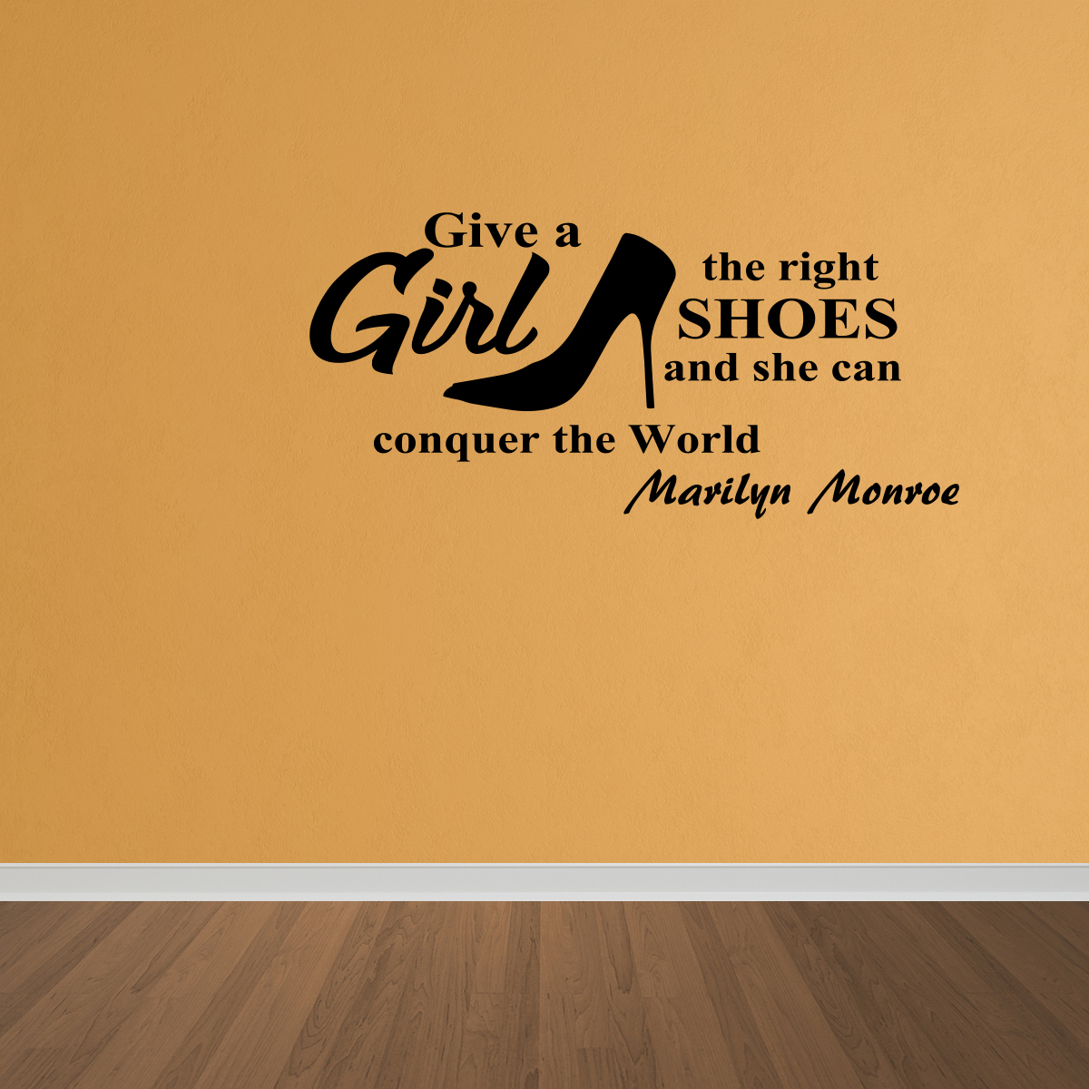 Wall Decal Quote She Can Conquer The World Marilyn Monroe Wall ...