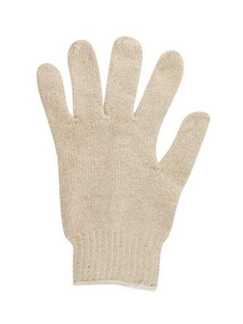 ANS 766109 9 in. Multiknit Heavy-Duty Cotton & Poly Gloves, Off White - 12 Pairs
