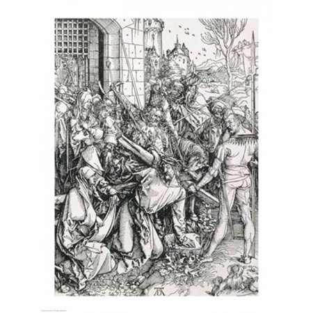 The Bearing of The Cross From The Great Passion Poster Print by Albrecht Durer - 18 x 24 in. - image 1 de 1