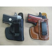 Azula IWB Leather in The Waistband Concealed Carry Holster for Ruger LC9, LC9S EC9s, LC380 TAN RH
