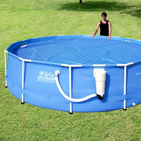 Sand n sun 12 39 14 39 solar pool cover for Swimming pool supplies walmart