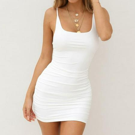 Female Attractive Camisole Bodycon Casual Mini Dress Fashion Attractive Dress