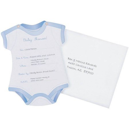 Wilton boy fill in baby shower invitation cards 12 ct - Wilton baby shower favors ...