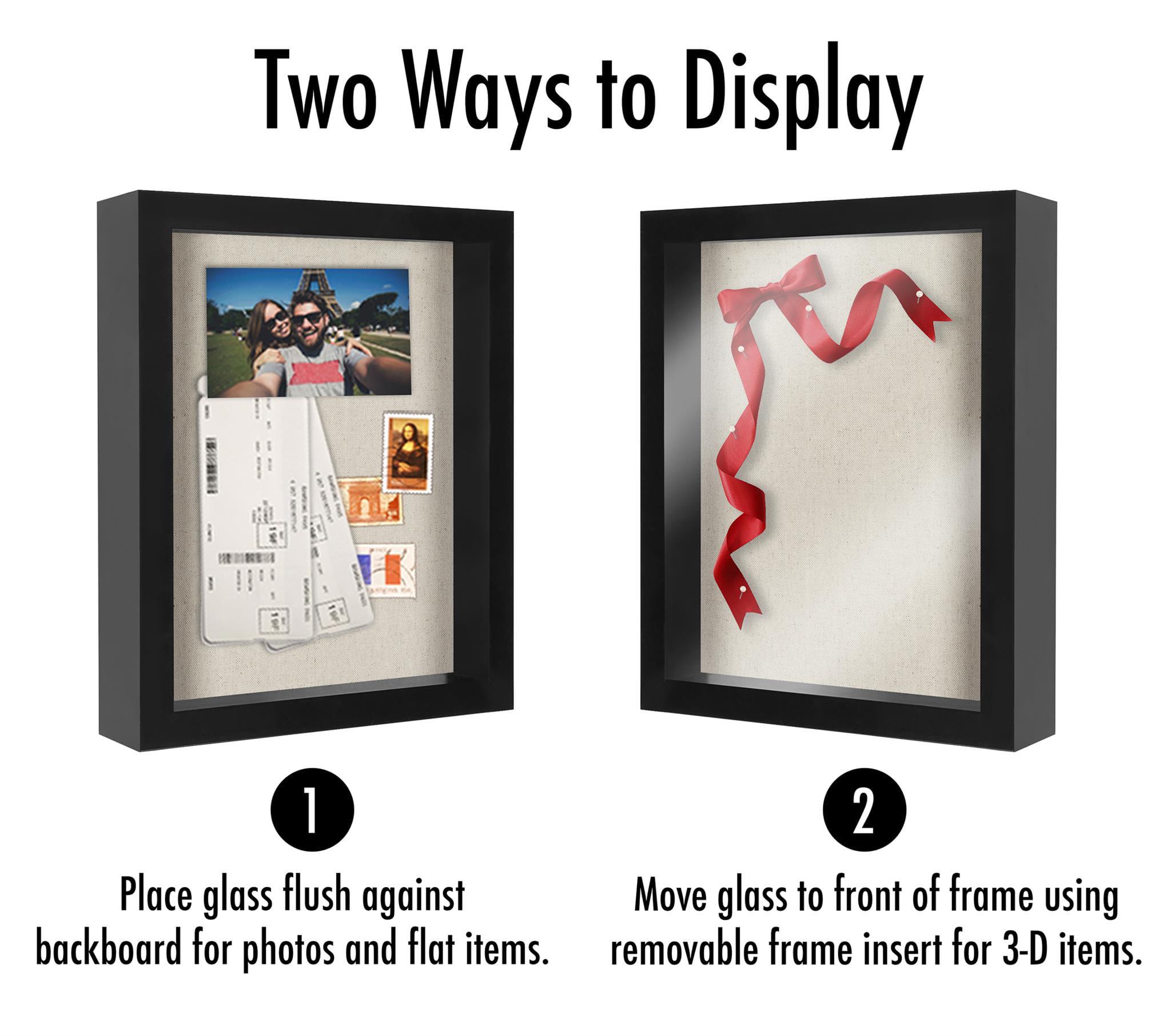 8.5x11 Document Shadow Box Frame with Soft Linen Back - Walmart.com