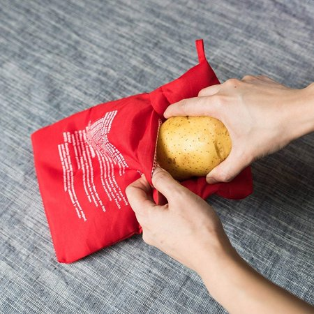 Express Potato Cooker Microwave Potato Cooker Bag- Potato Express Pouch, Perfect Potatoes Just in 4 Minutes! (1 - Potato Bag Race