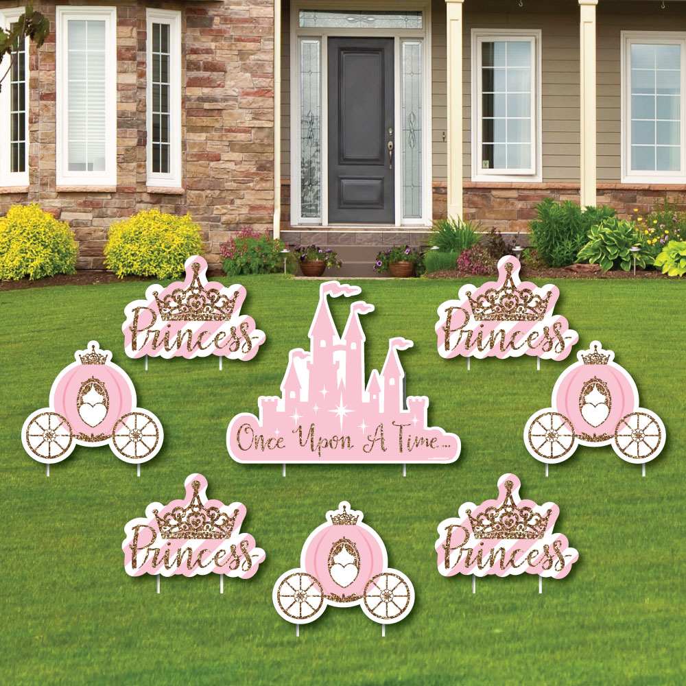 Little Princess Crown Yard Sign Outdoor Lawn Decorations Baby