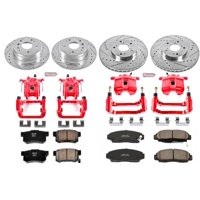 Power Stop KC2298 Z23 Evolution Sport Brake Upgrade kIt W/Calipers -Front & Rear