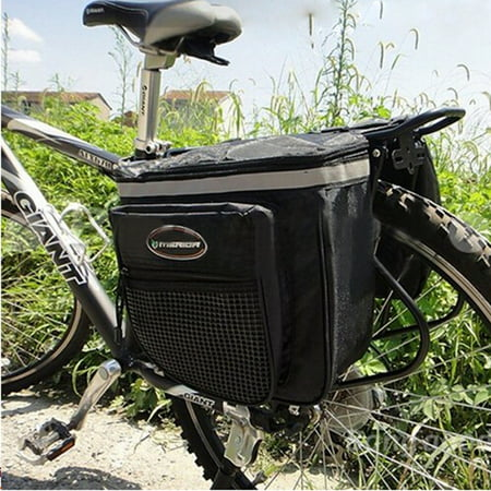 25L Bicycle Bike Rear Seat Tail Seat Bag Case Double Side Waterproof  Pannier Pouch Saddle Bicycle Accessories Bag Reflective Stripe