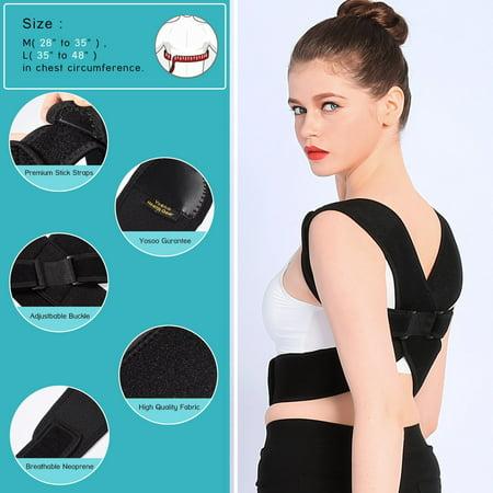 HURRISE Upper Back Shoulder Spine Support Belt Posture Correction For Men Women, Back Shoulder Support Belt, Posture Correction Support Belt - image 4 of 7