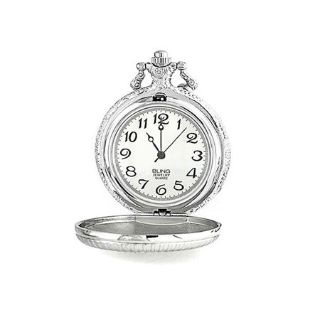 Master Masonic Quartz Mens Pocket Watch Freemason Two Tone Silver Plating Gold Plating With Chain - image 1 de 4