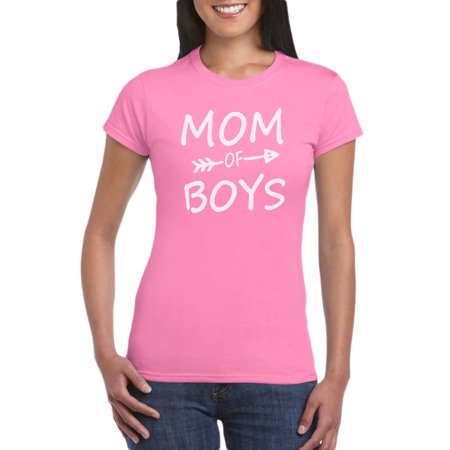 Mom Of Boys T-Shirt Gift Idea for Women - Unique Birthday Present For Mother, Funny Gag for New Mom, Baby Shower, Newborn Celebration (Halloween Costume Ideas For Babies And Moms)