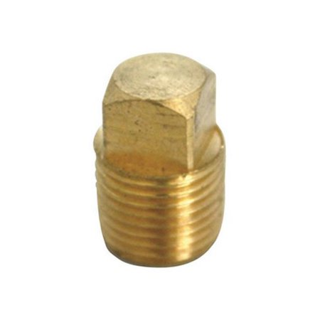 0.5 in. Square Head Cored Pipe Plug in in Lead Free Yellow Brass - pack of