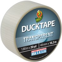 """Duck Brand 1.88"""" Transparent Duct Tape, 20 Yd."""
