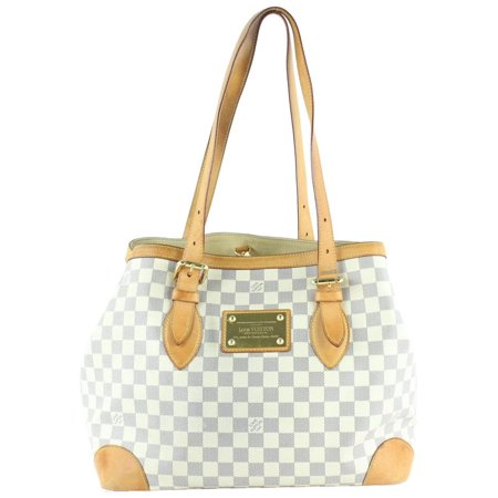 3cfb5a7cfe47 Louis Vuitton - PRE-OWNED Hampstead Damier Azur Mm Tote 233002 White ...