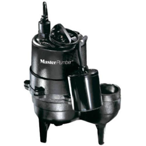 Pentair Water 540155 Cast-Iron Automatic Submersible Sewage Pump, .5-HP Motor, 9000-GPH - Quantity 1