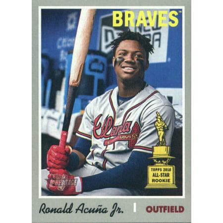 2019 Topps Heritage 500 Ronald Acuna Jr Atlanta Braves Sp Baseball Card