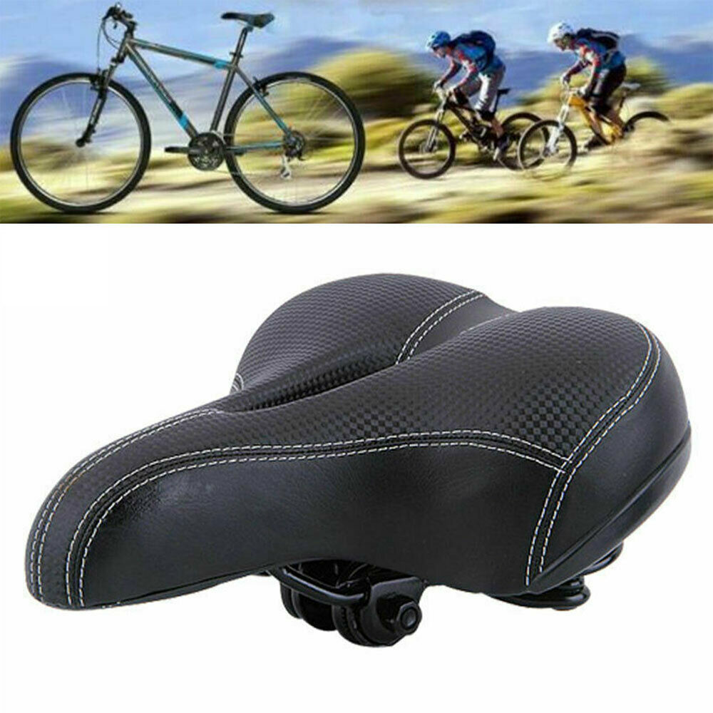 Extra Wide Comfy Cushioned Universal Bicycle Gel Saddle Bike Seat Soft Padded
