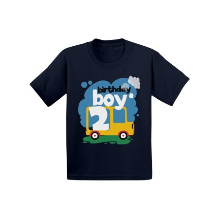 Awkward Styles Birthday Boy Toddler Shirt Toy Truck For 2 Year Old Gifts Boys 2nd Party Outfit Themed