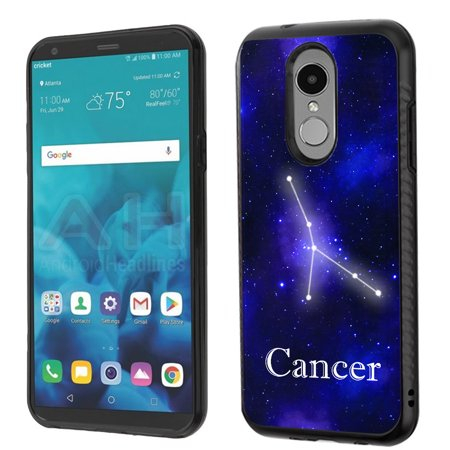 For LG Stylo 4 Case, OneToughShield ® Dual Layer ShockProof Protector Phone Case with Brushed Texture - Zodiac / -