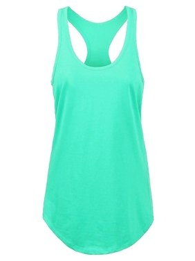 Womens RACERBACK TANK TOP Soft Casual Sleeveless Tank Top