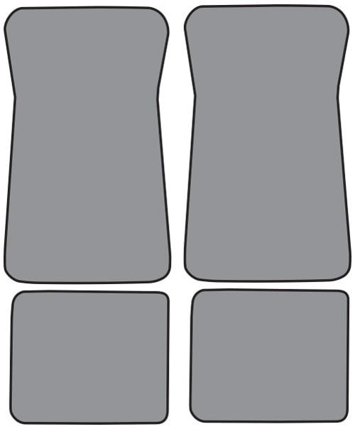 1974-1975 Pontiac Grandville Floor Mats 4pc Cutpile