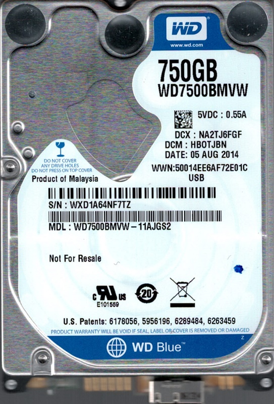 Western Digital WD7500BMVW-11AJGS2 DCM: HBOTJBN USB 3.0 750GB by WD