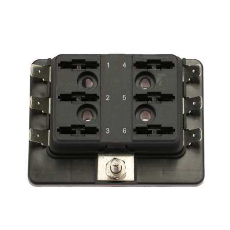 1 Power in 6 Way Blade Fuse Box Holder for Car Boat Marine 12V 24V - image 4 of 7