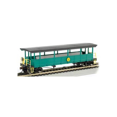 17445 Open Sided Excursion Car w/Seats Cass Scenic RR