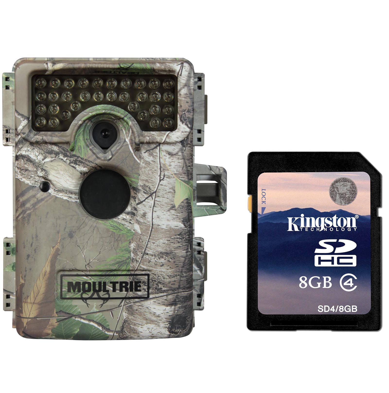 Moultrie M-1100i Mini No Glow Infrared Digital Trail Game Camera + SD Card