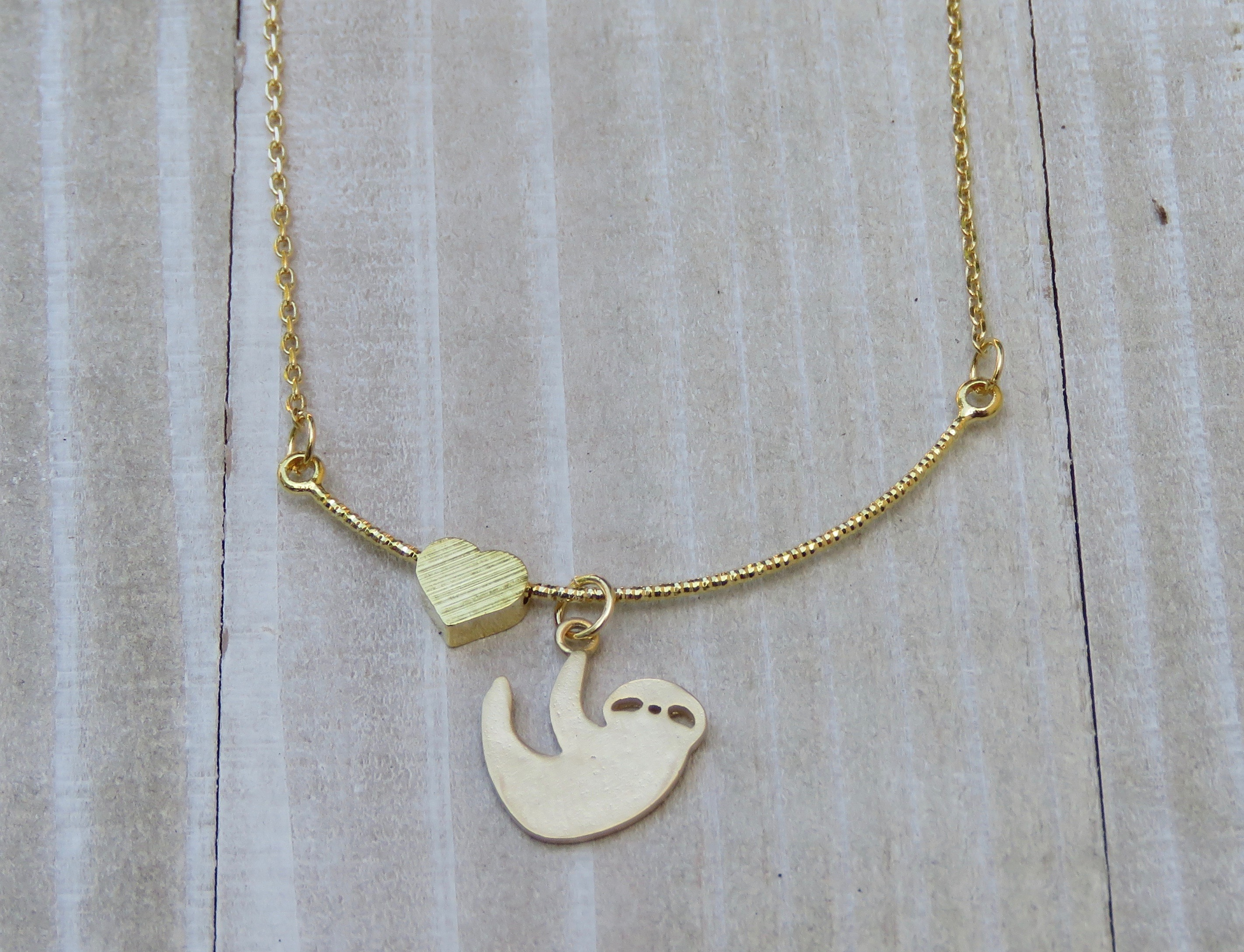 14k Gold Filled Moon and Star Pendant Necklace for Women to Wear on a Daily Basis Night Symbol Everyday Jewelry for Women