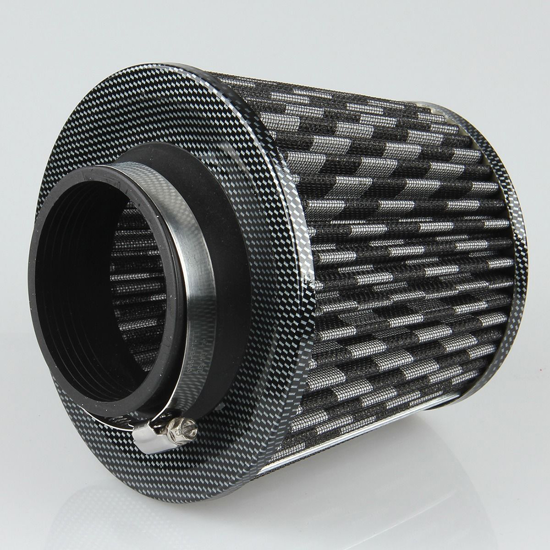 "Unique Bargains Vehicle Car Black White 76mm 3"" Inlet Dia Air Intake Round Filter - image 2 of 7"