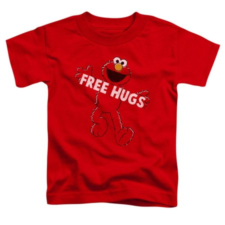 Toddler: Sesame Street- Elmo Free Hugs Apparel Baby T-Shirt - Red - Elmo T Shirt