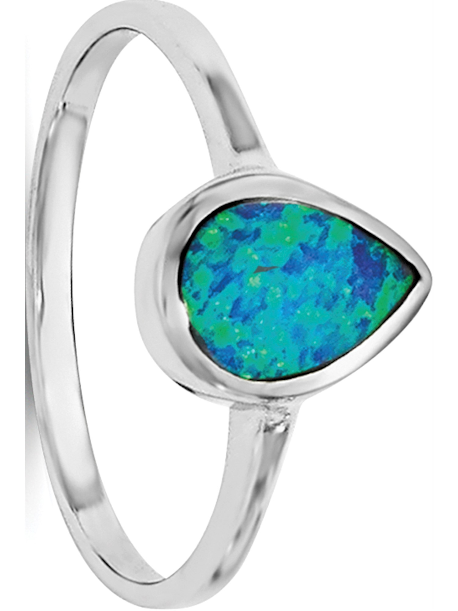 Sterling Silver Synthetic Opal Polished Round Pendant